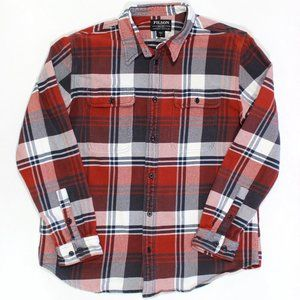 Filson Long Sleeve Thick Cotton Button Front Plaid
